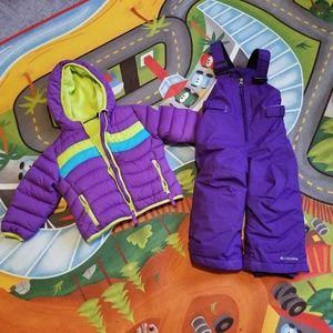 Toddler girl snow coat and pants